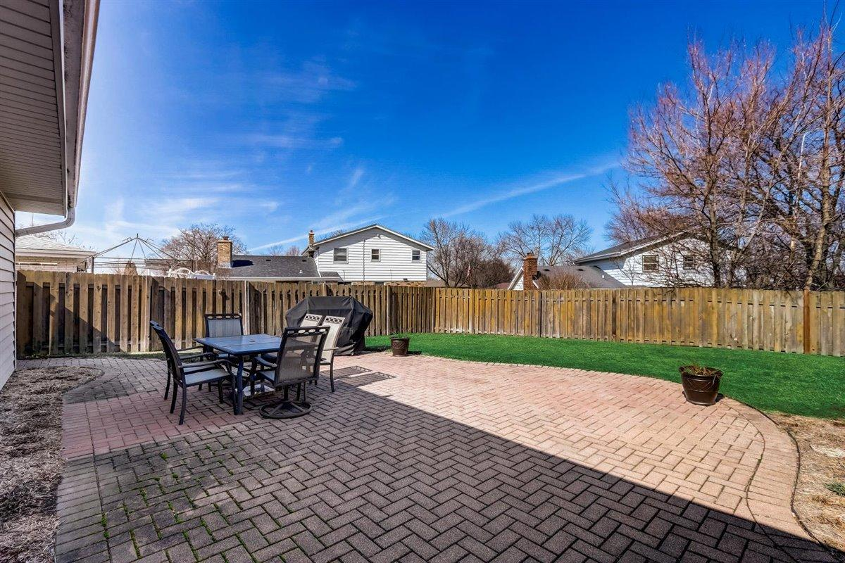 Paver Patio and Fenced Yard