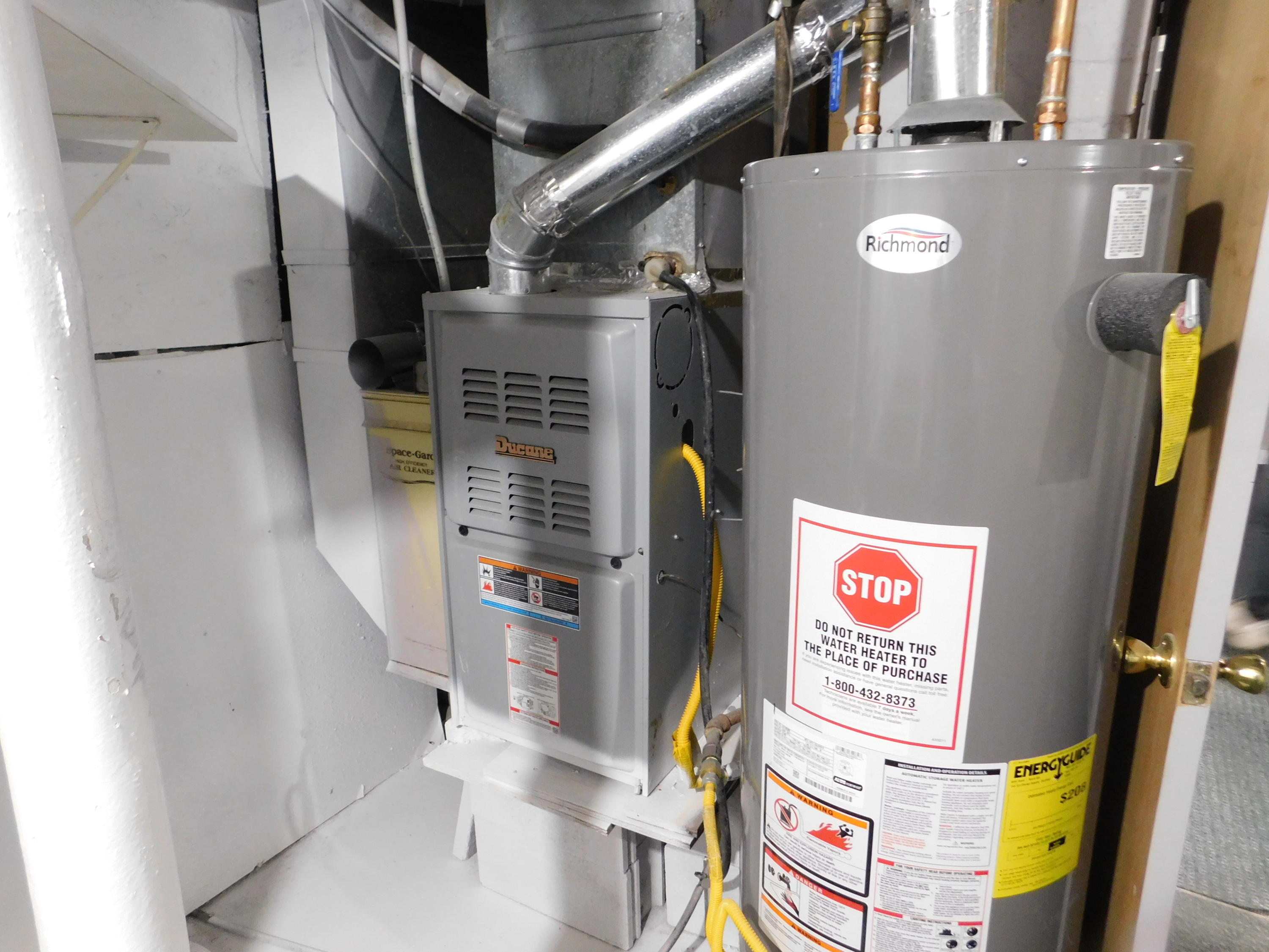 newer furnace and water heater