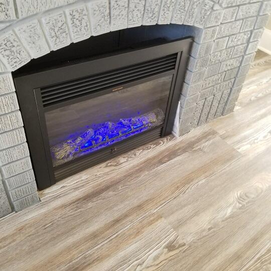 Fireplace Changing Colors #1