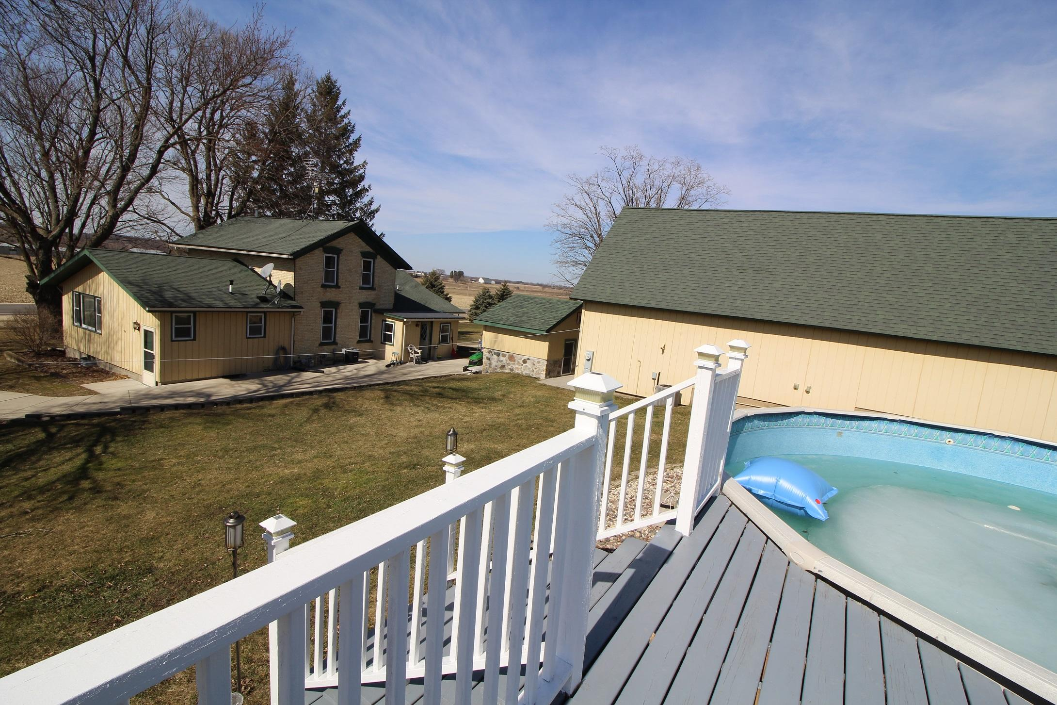 View of Pool to House