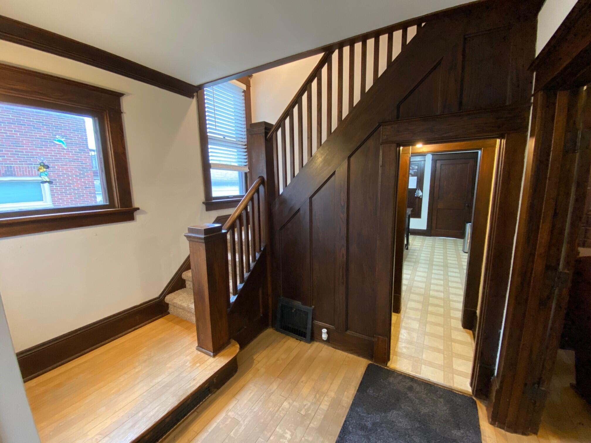 Natural Wood Stairway