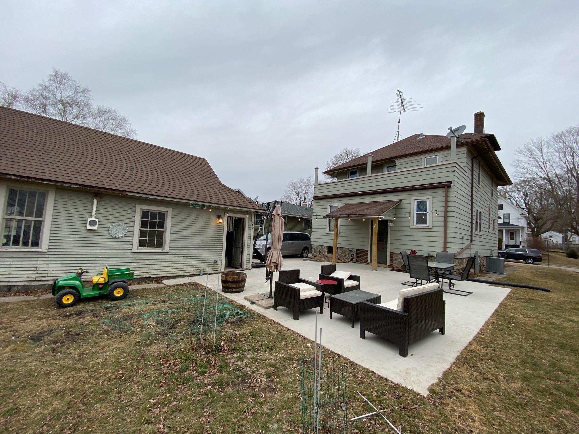 Rear of House & Garage