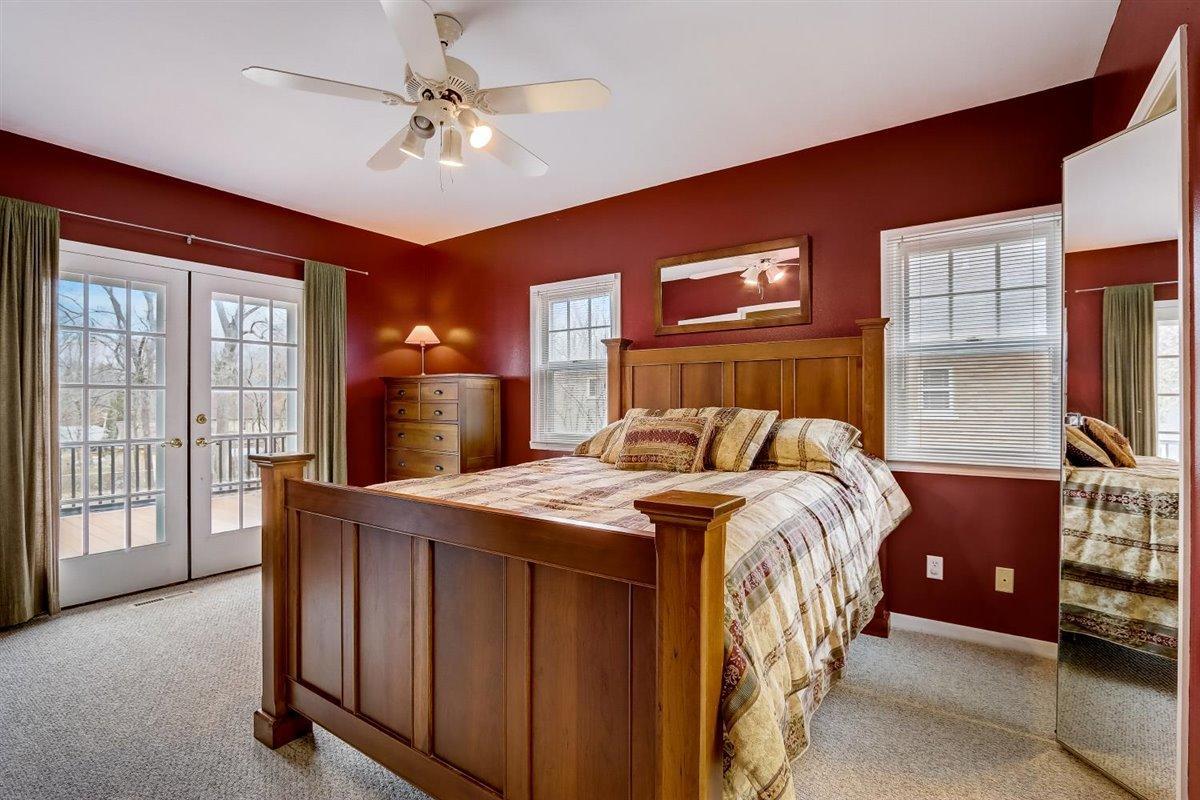 Master Bedroom w/ Patio Door