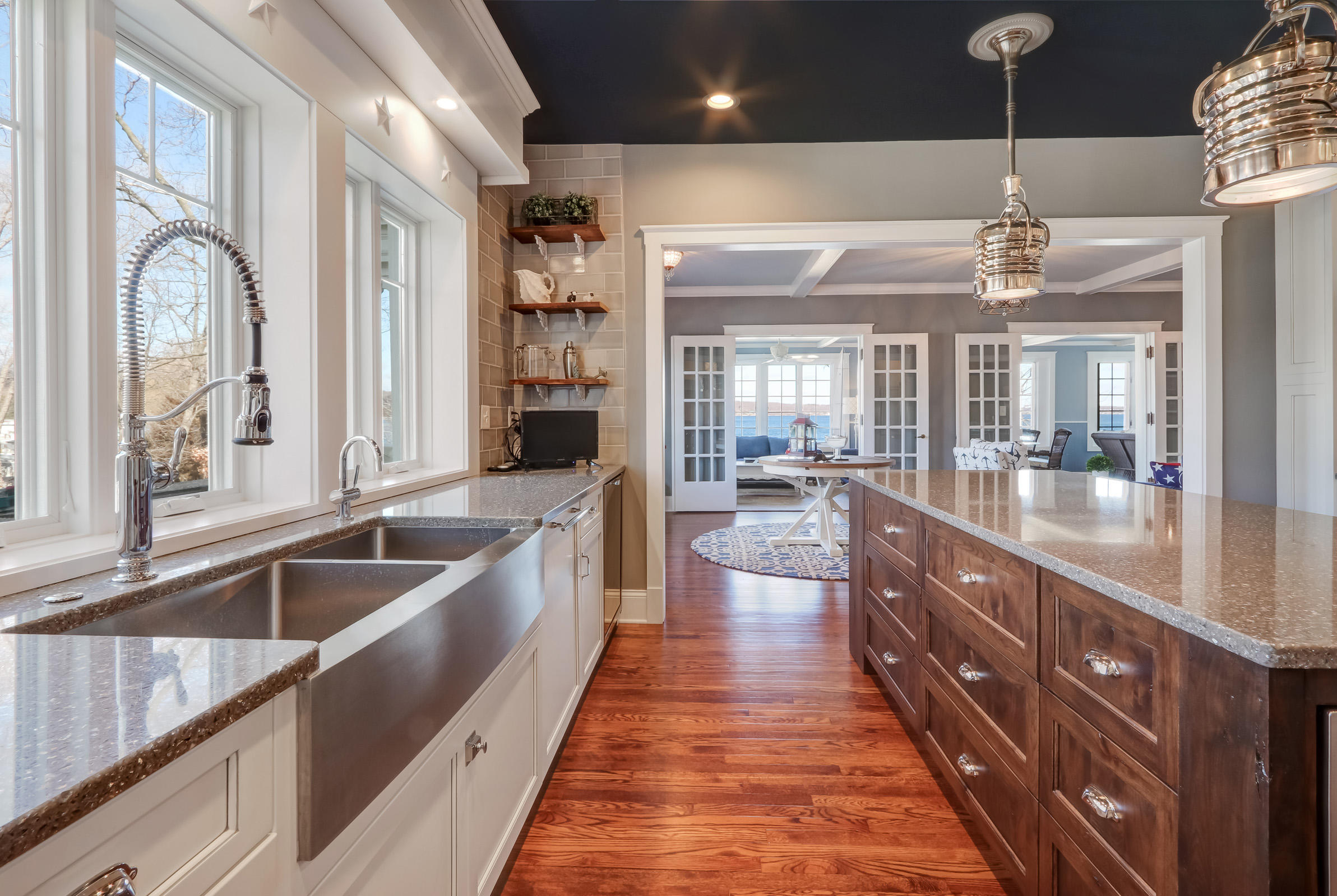 Kitchen with Lake Views