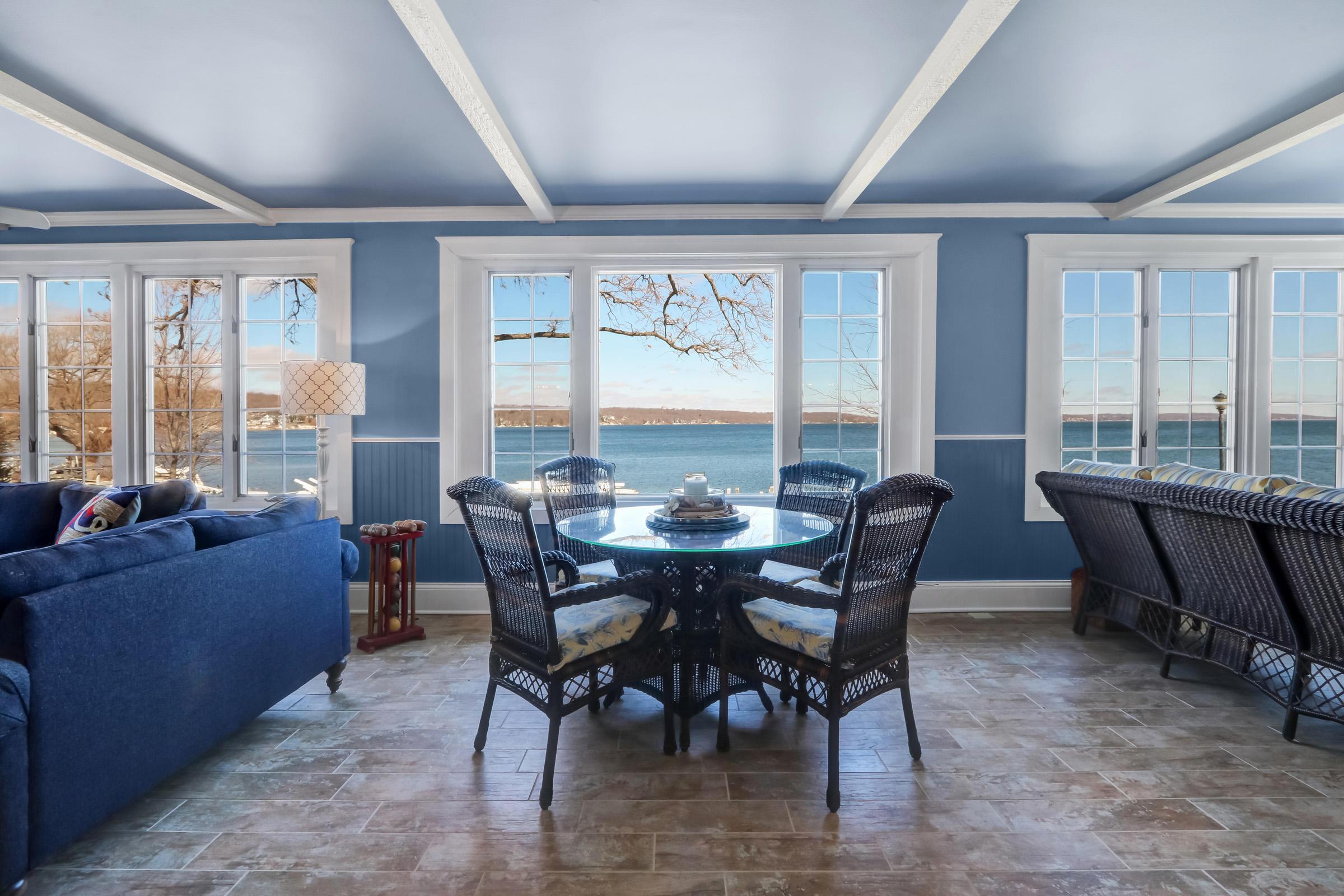 Sun Room with Lake Views