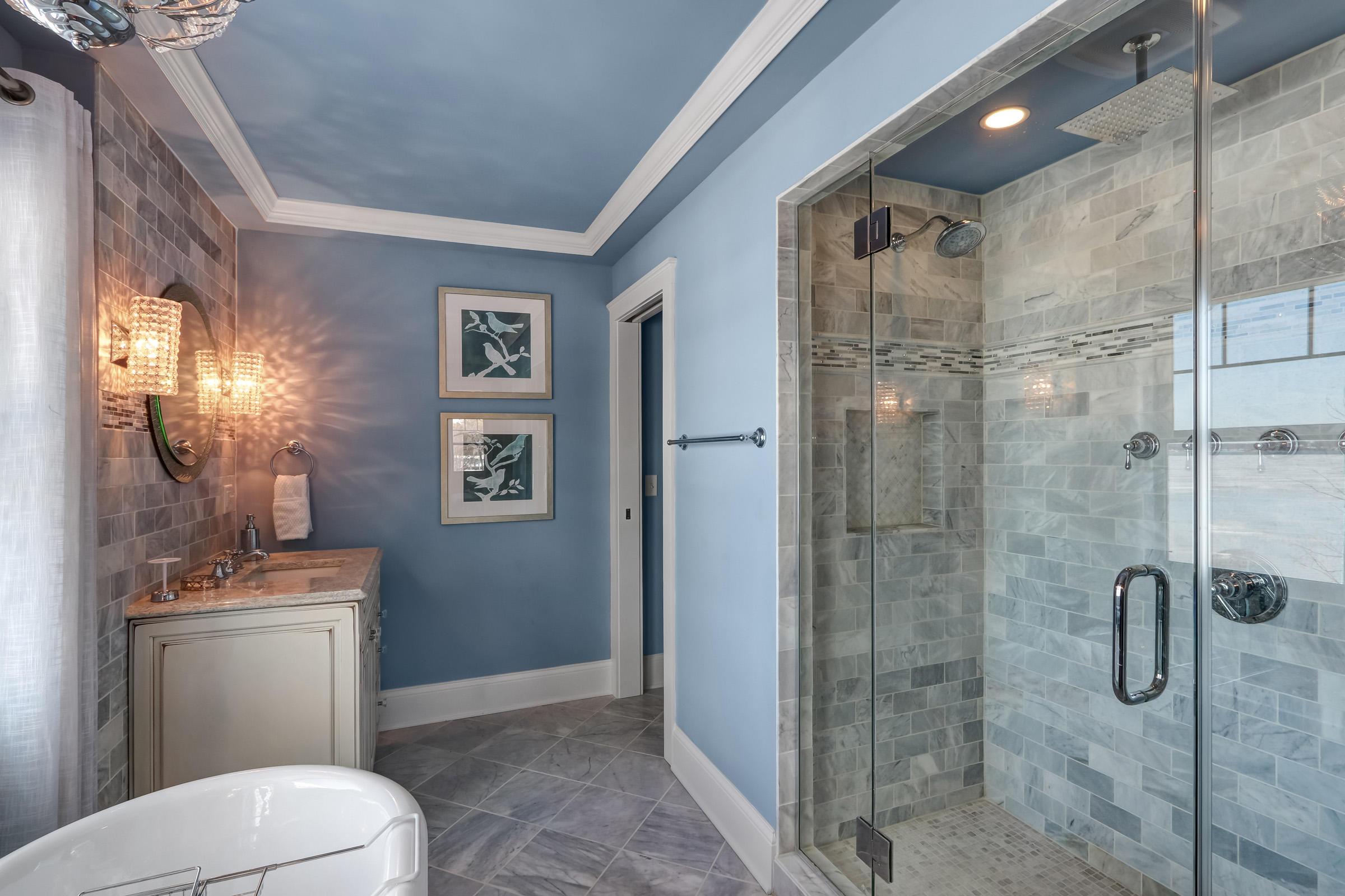 Main Bath with Walk-in Shower