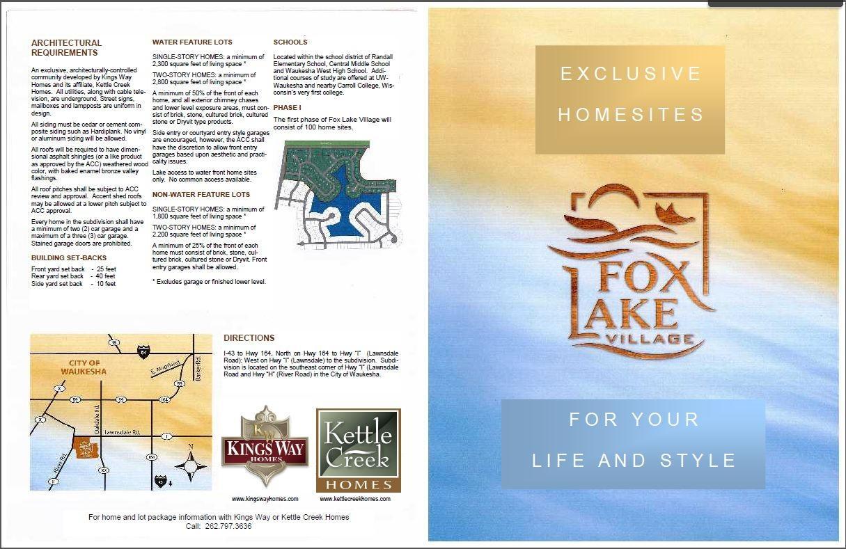 Fox Lake Brochure - Page 1