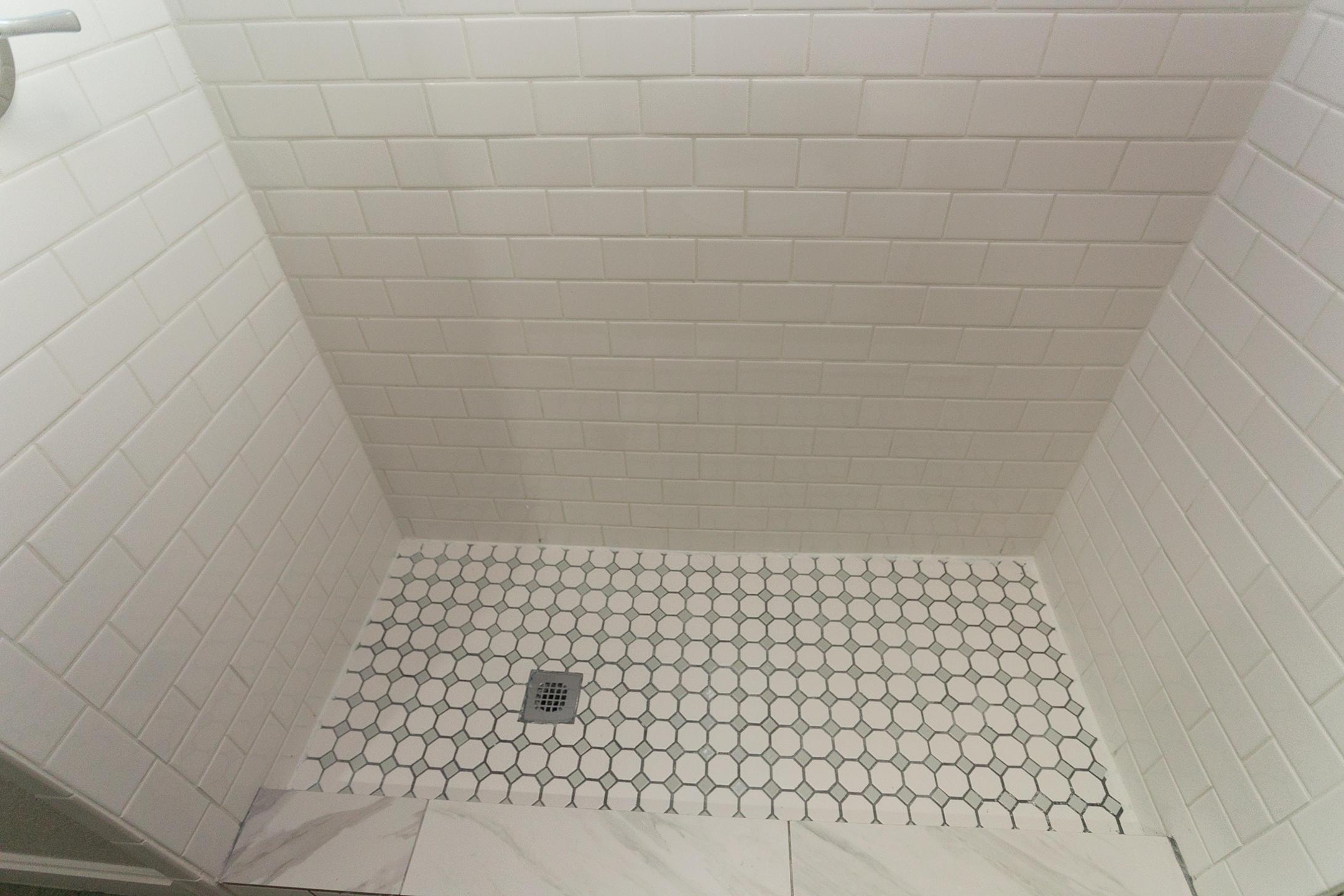 Tiled shower - lower level