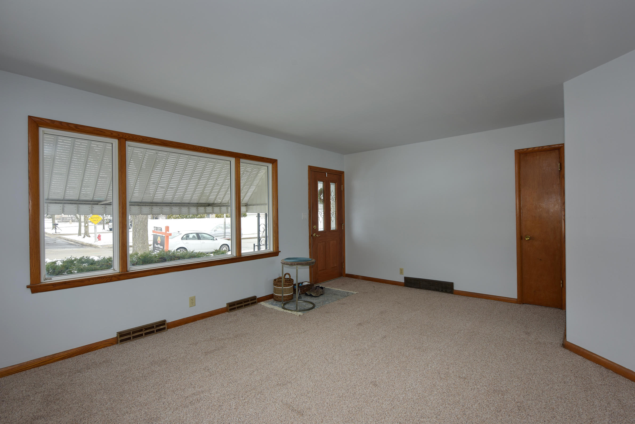Living Room with New Carpet