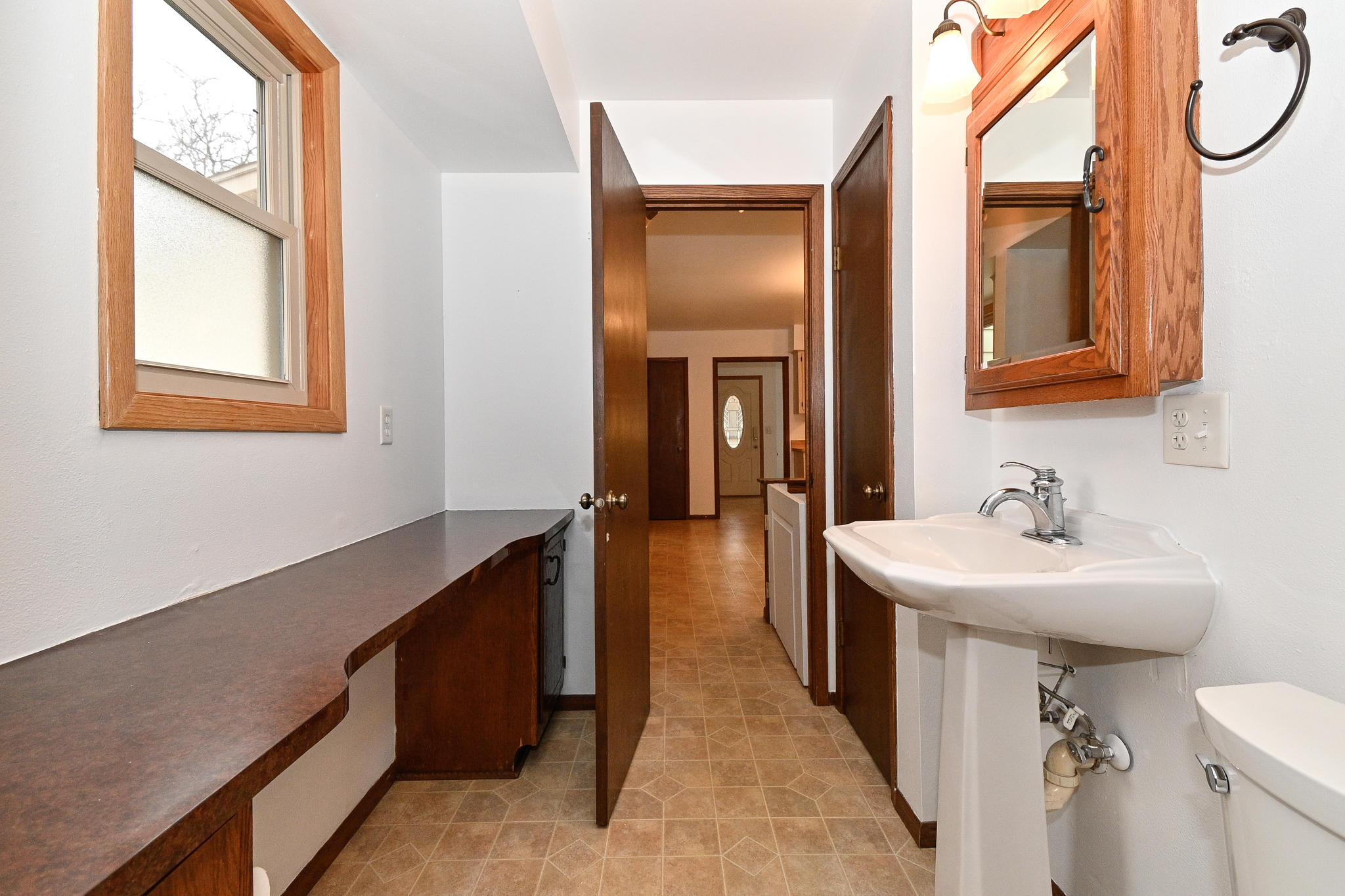 Powder Room off Master and Kitchen