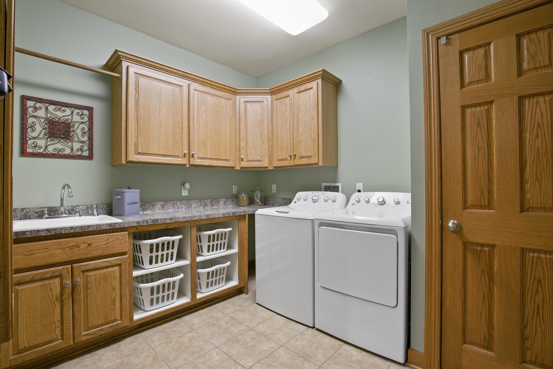 Tiled Laundry Room