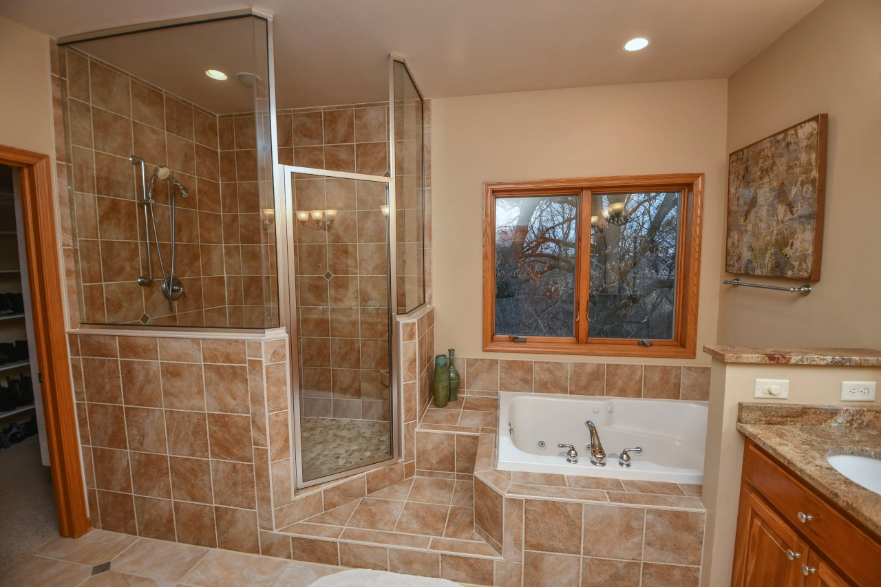 Tiled Shower and Tub