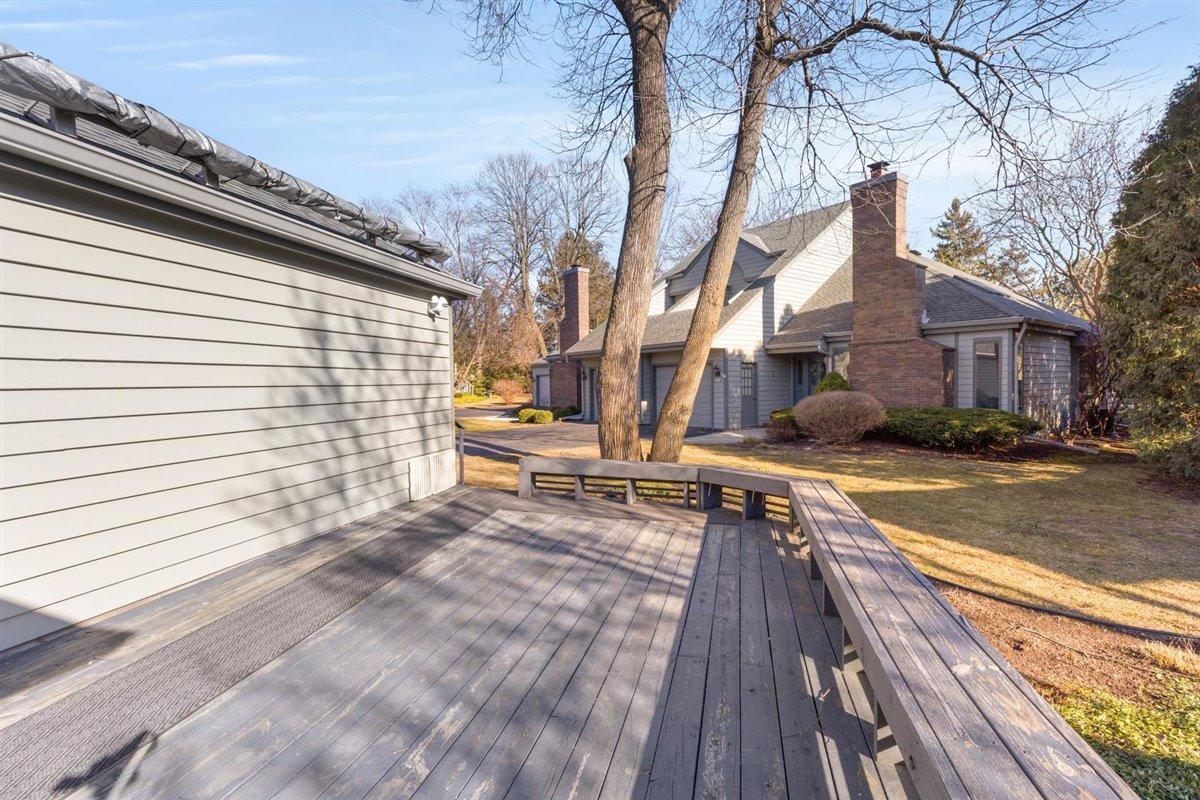 Back Deck with built in seating