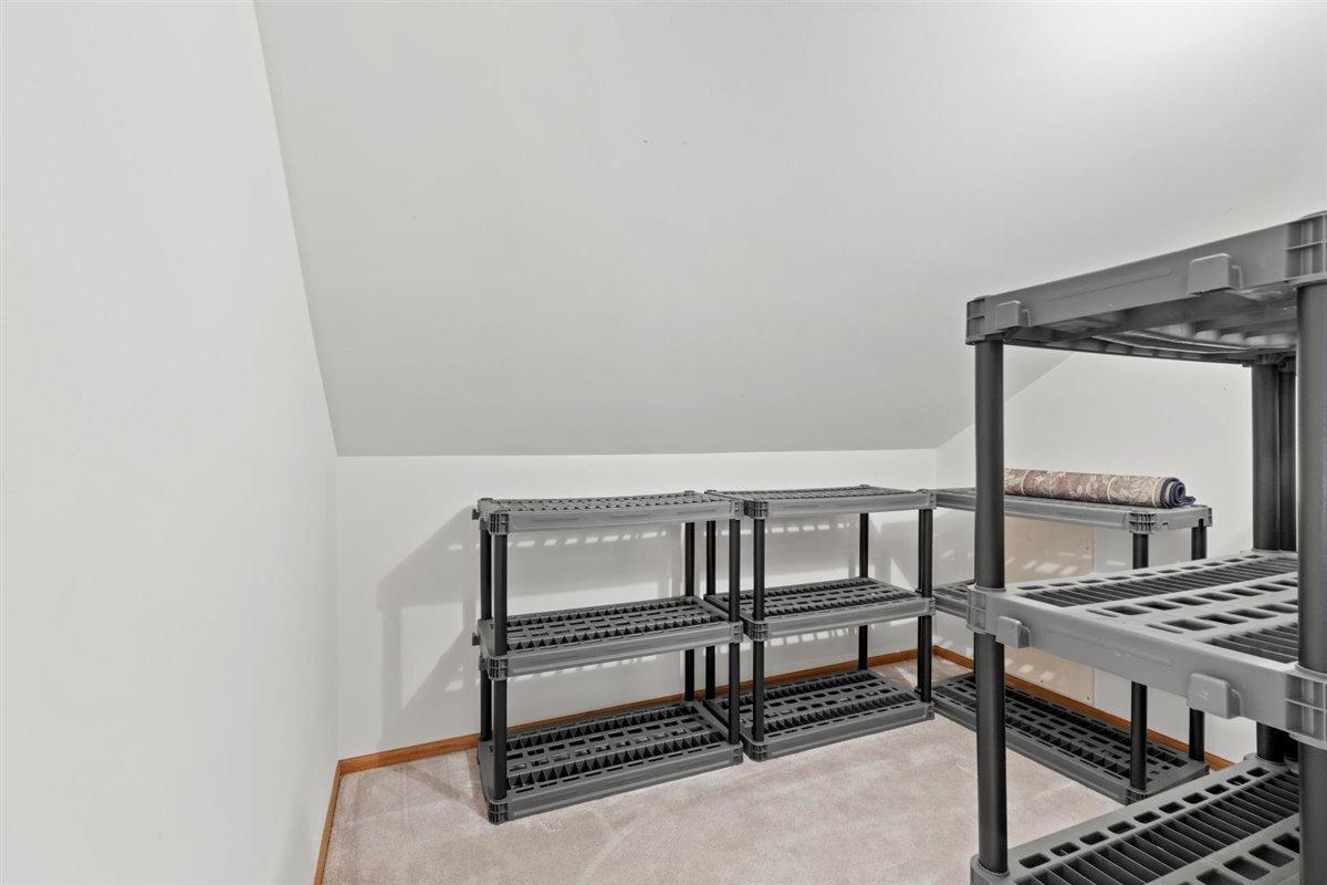 Upper level storage room