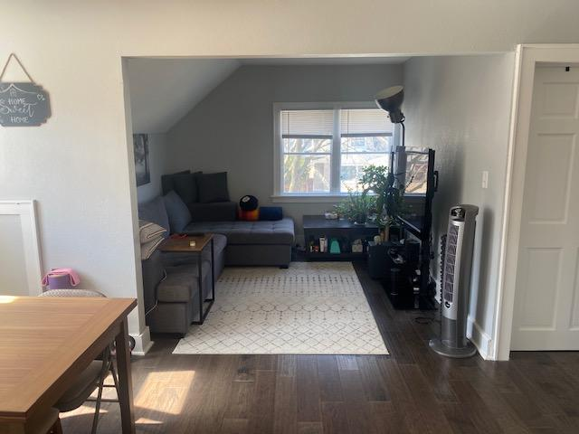 Upper unit into Living Room