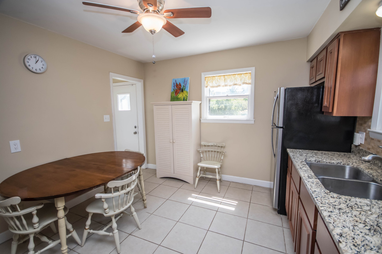 Remodeled eat-in kitchen