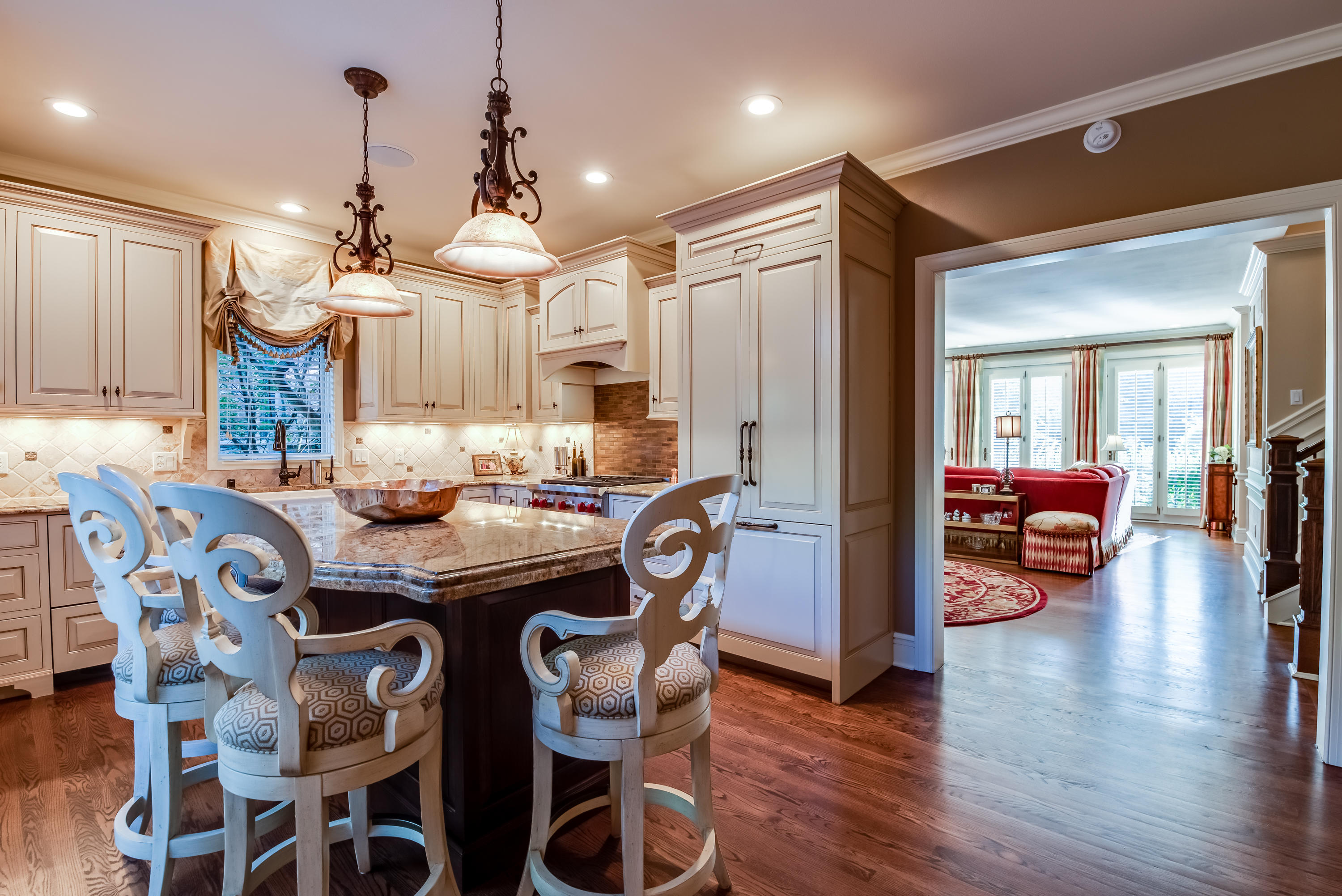 Kitchen to Living Areas