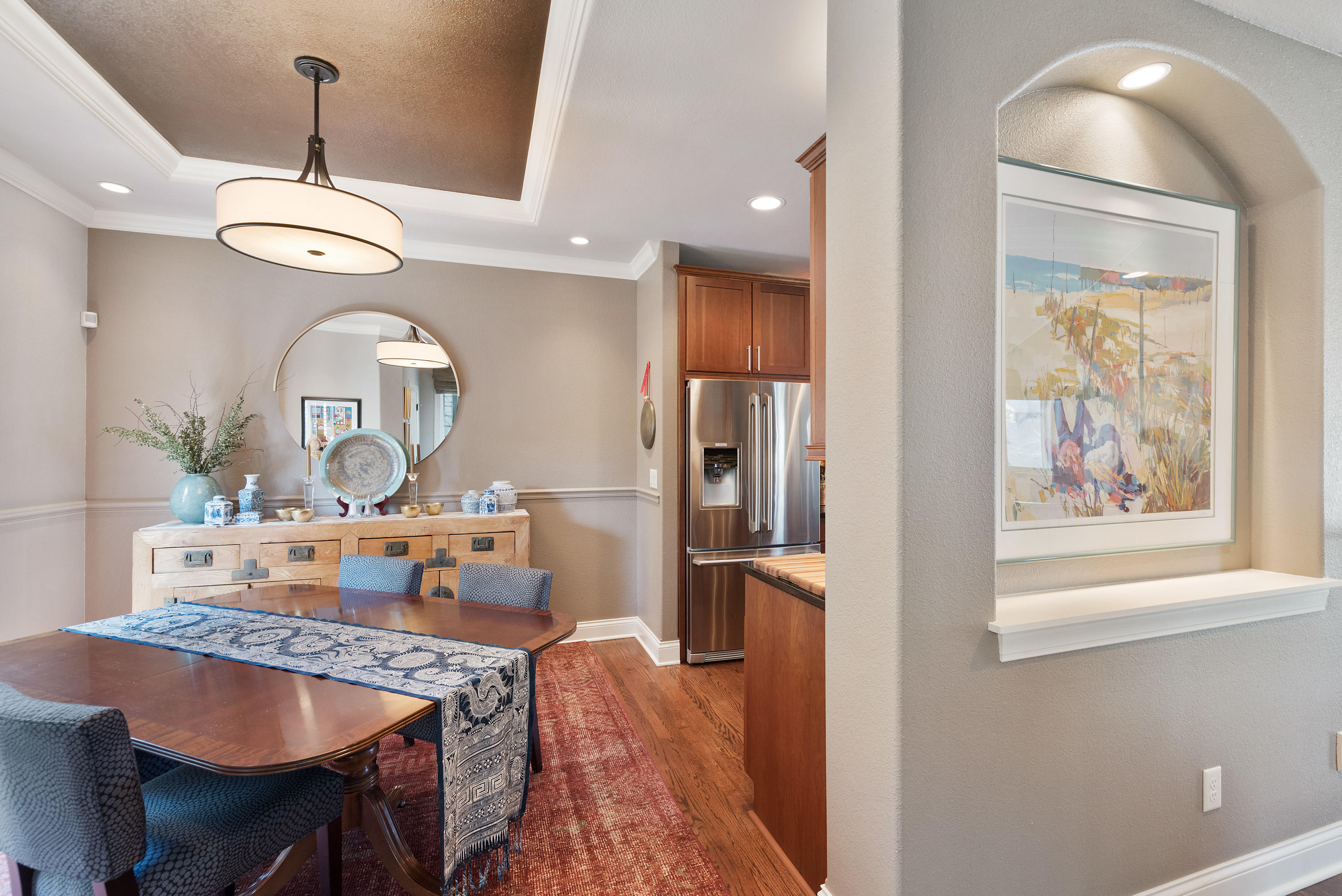 Art Niches Throughout Townhome