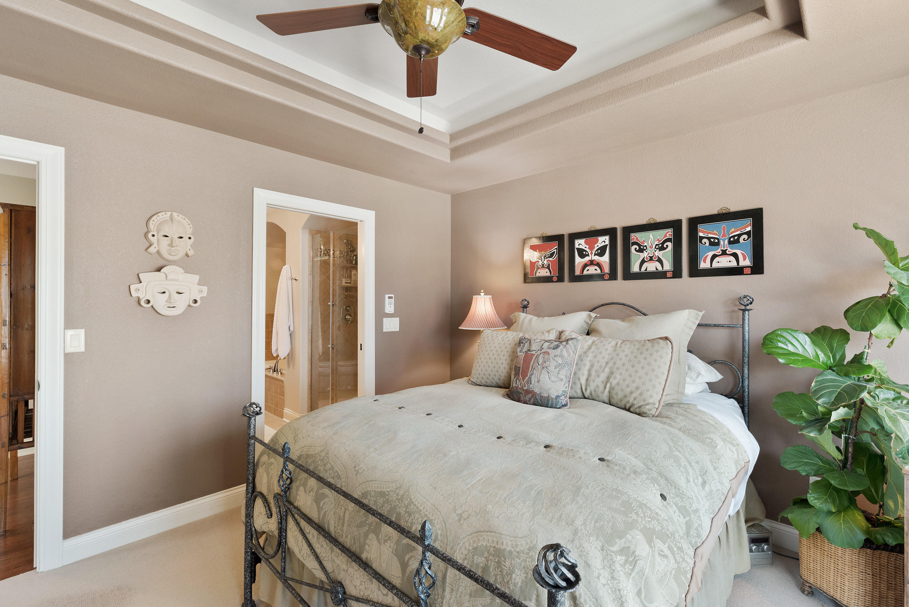 Tray Ceiling with Attached Full Bath