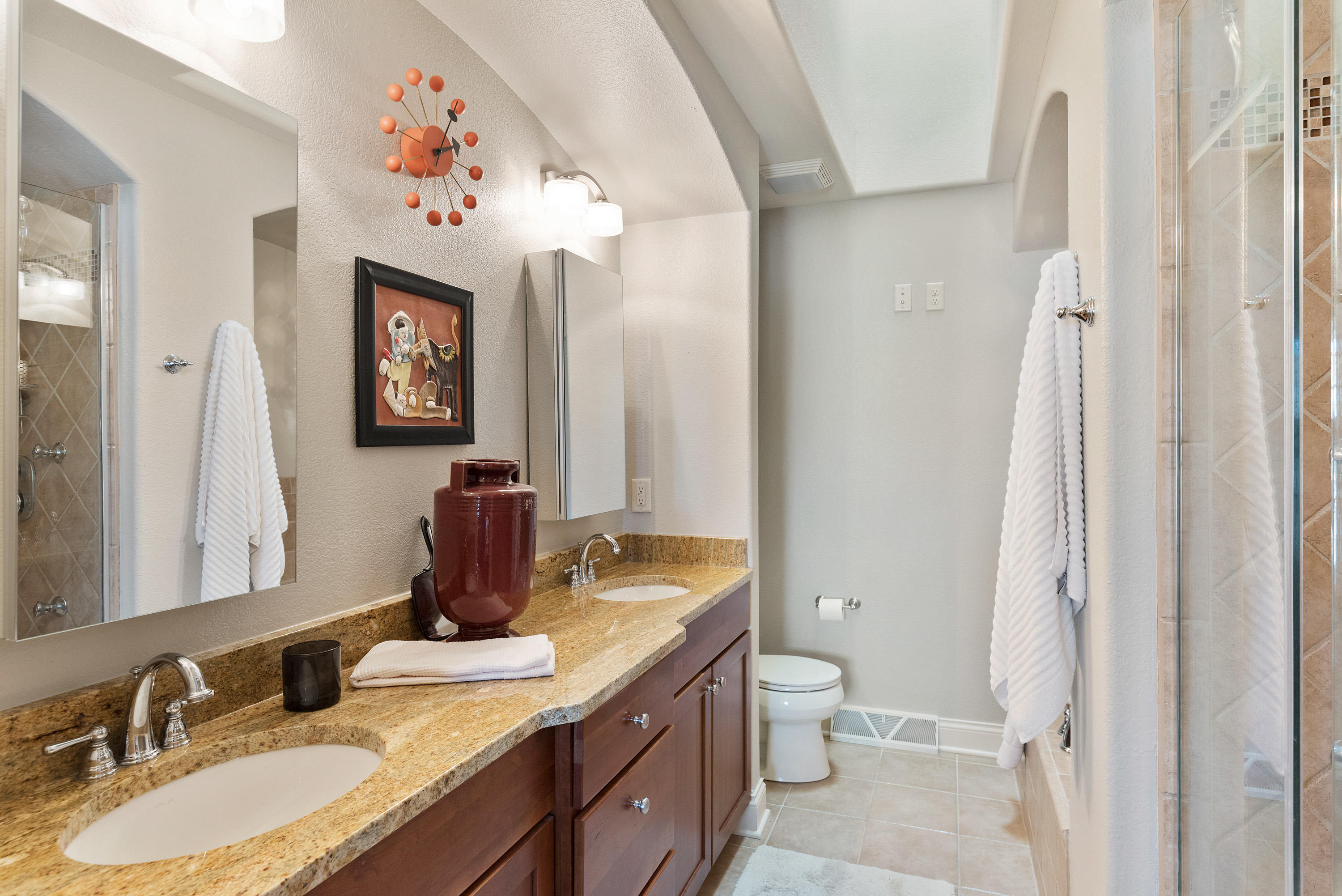 Master Bath Features Two Sinks