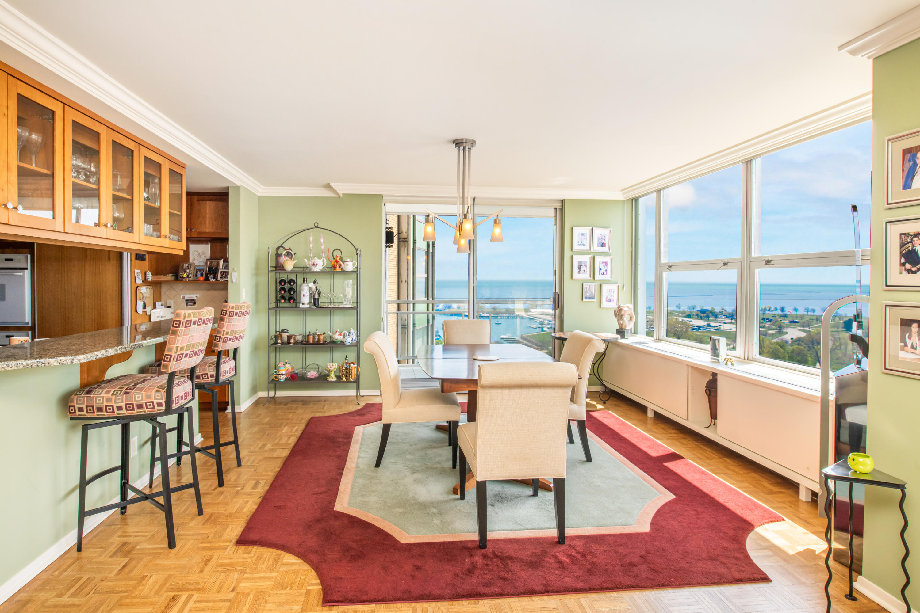 Dining Room with Fantastic Views!