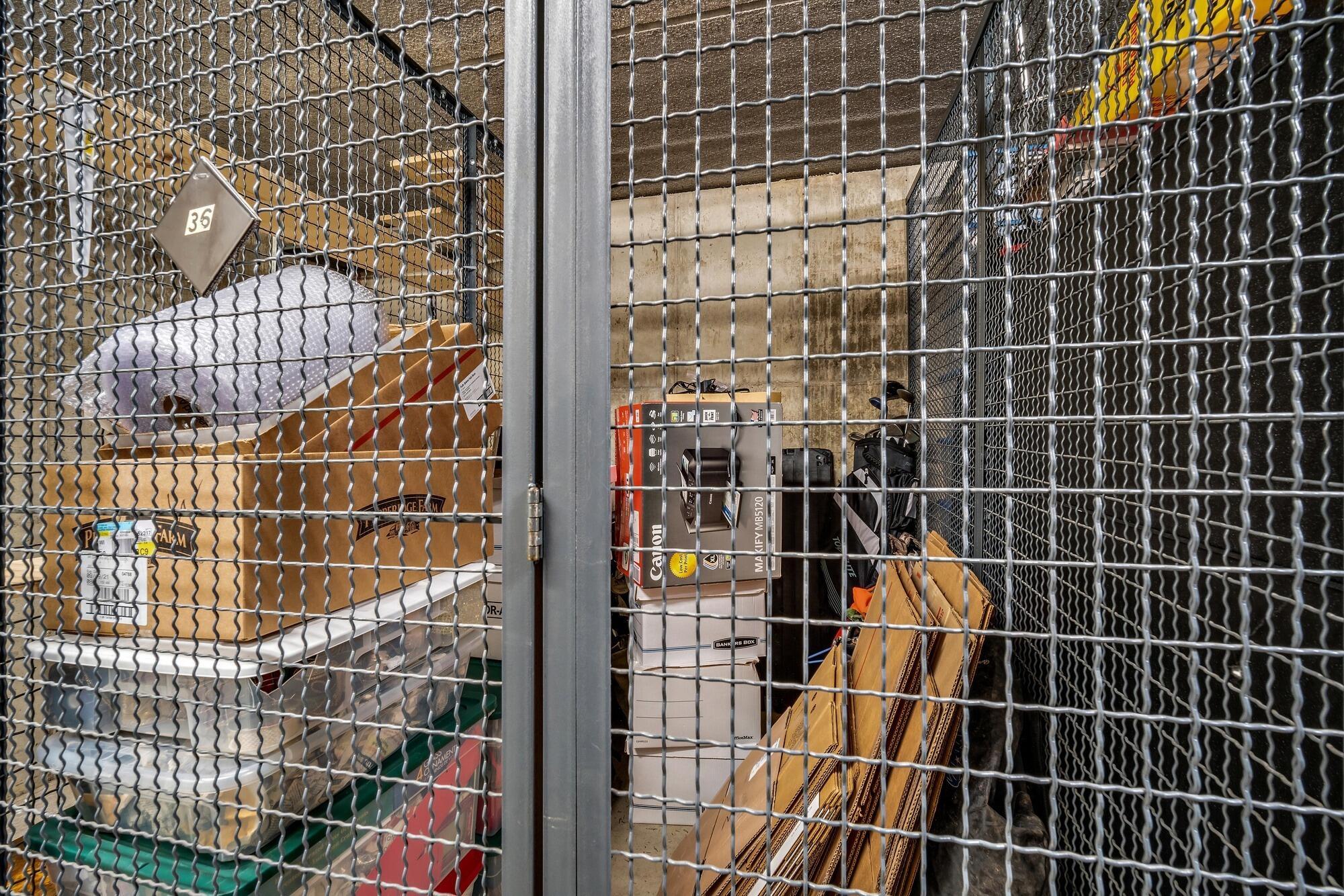 Storage locker in parking garage #36