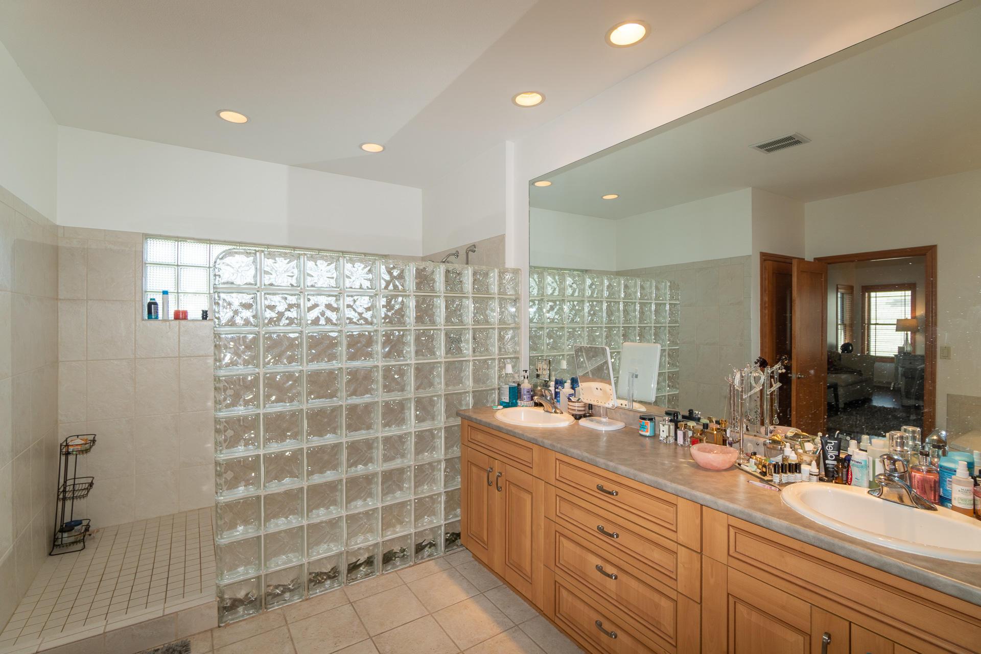 Master Bathroom + Double Vanity