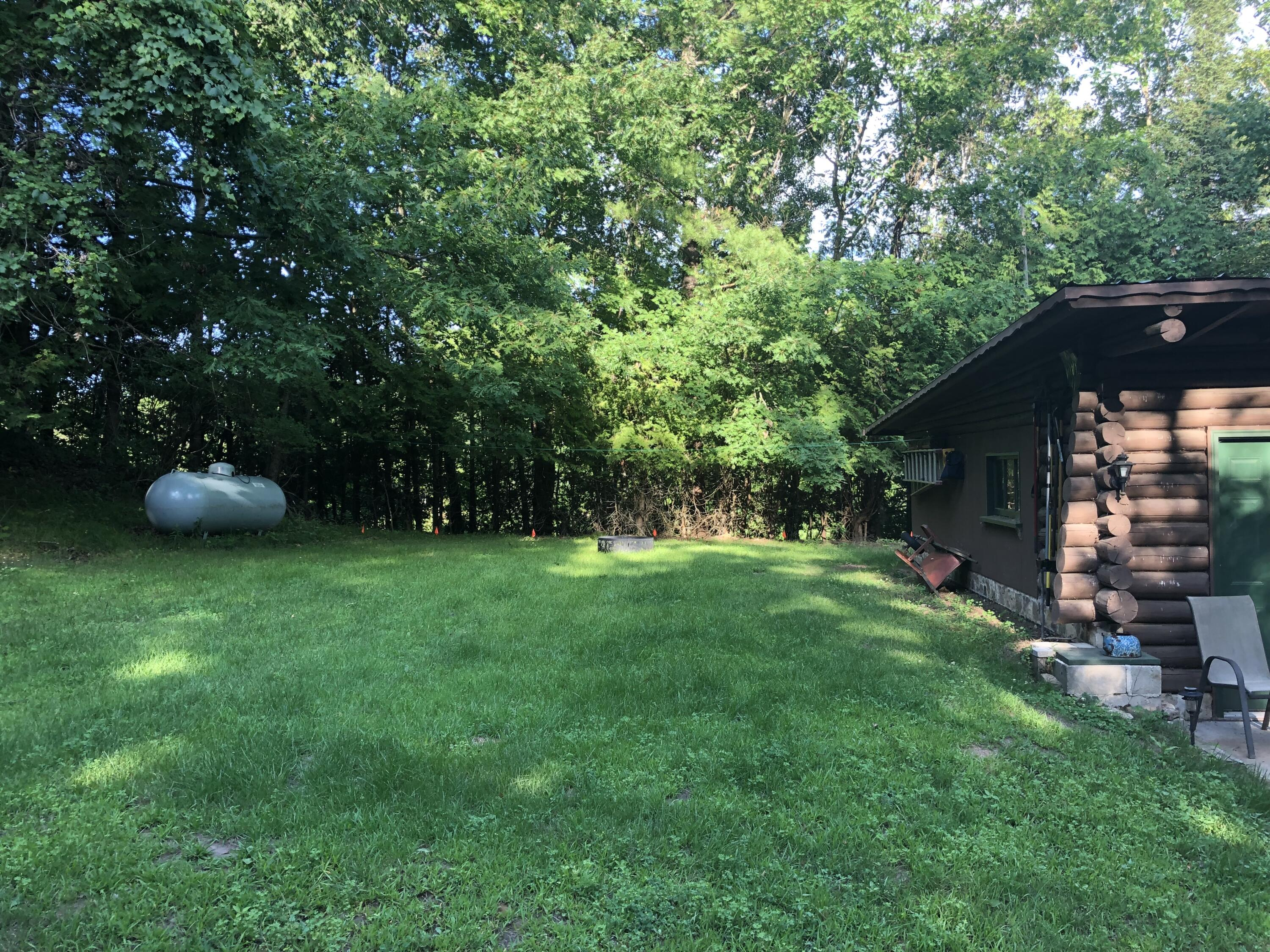 Side yard to East
