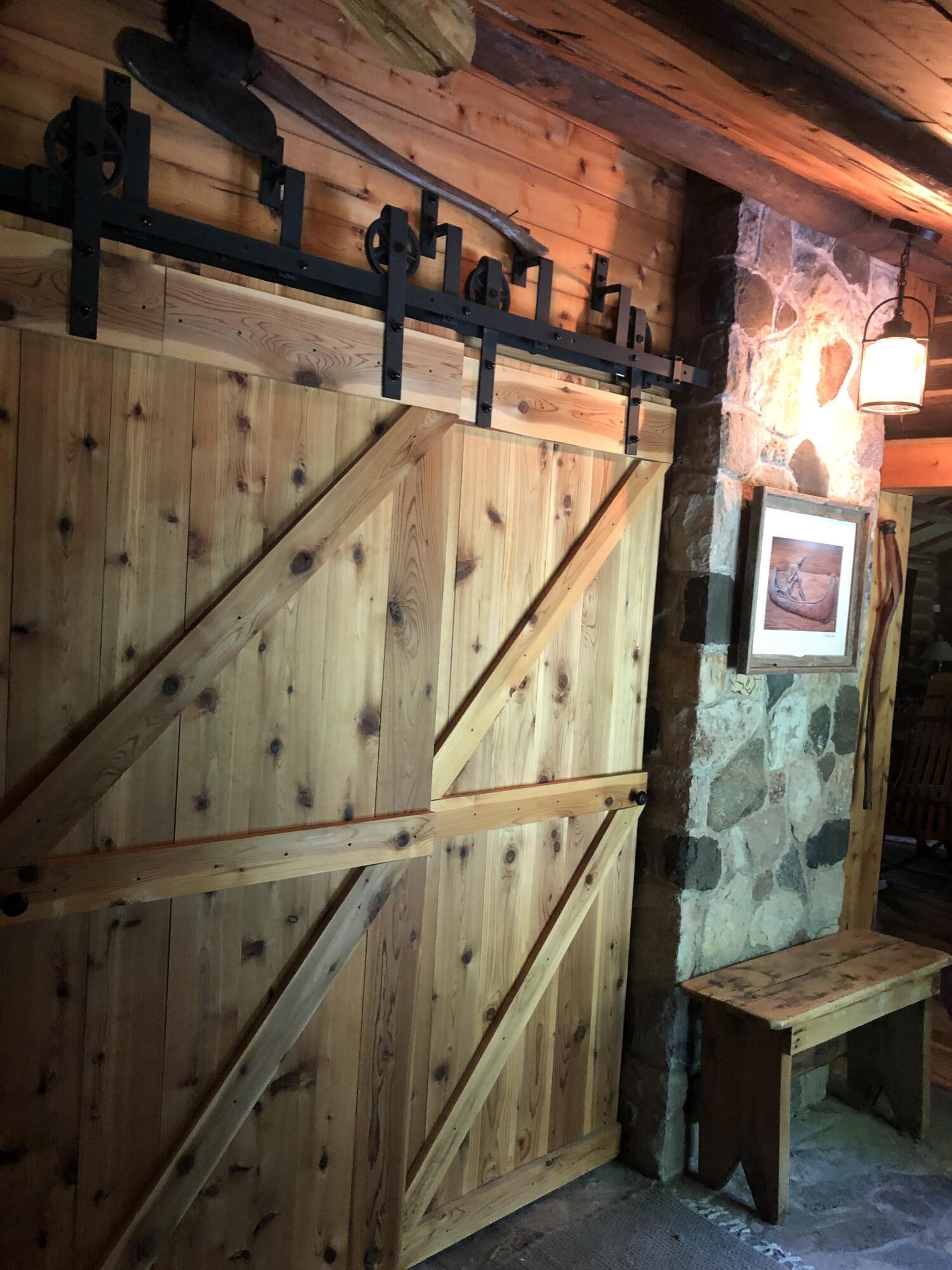 Downstairs and bathroom barn doors