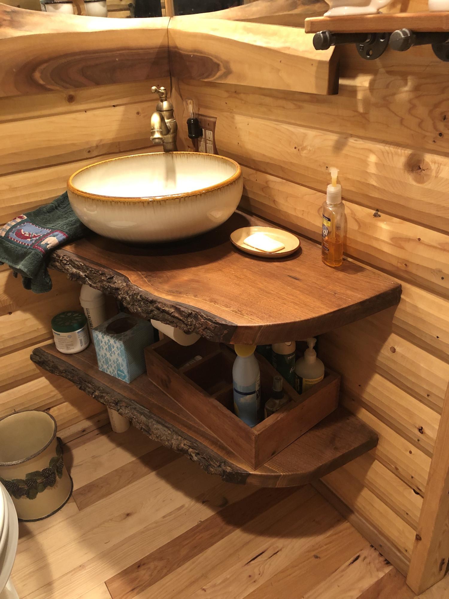 Bathroom live edge vanity