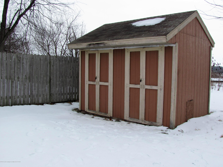 Storage shed:  1180 Porter Drive