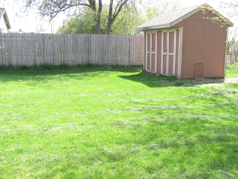 Back yard:  1180 Porter Drive