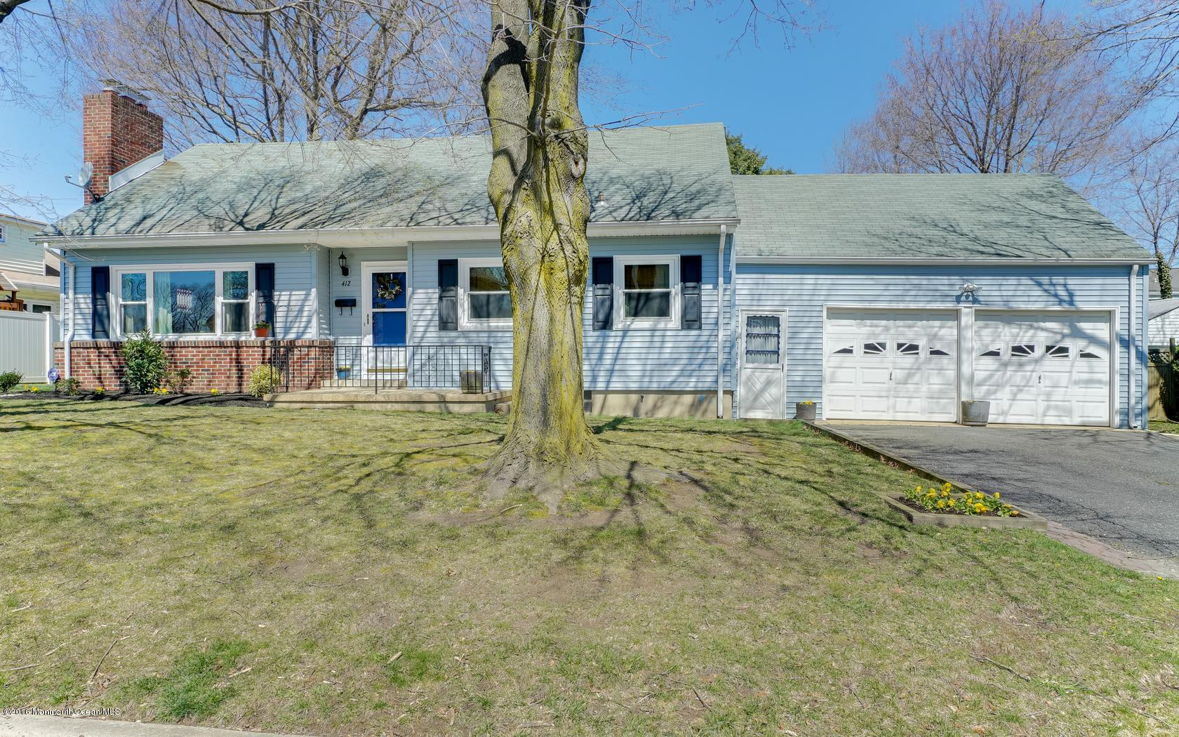 Photo of home for sale at 412 Belmont Avenue Avenue, Ocean Twp NJ