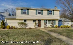 Welcome home to this breathtaking 4 bedroom 2 bath home in the desirable Oakhurst section of Ocean Township. This home is located on a quiet cul-de-sac (bus stop steps from home) and close to schools, transportation, and the local park system. This home features a family room with fireplace, wood floors with inlay, kitchen with desirable open layout and full dining area. Fresh paint, wood floors throughout. Newer bathrooms and vinyl fence for privacy. The backyard is an absolute delight! Paver patio and large yard are great for entertaining in the Spring and Summer months. The pictures do not lie, call your Realtor today!