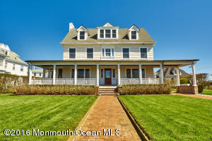Stately seashore colonial just steps to the ocean and Allenhurst beach club. Attention to detail onall exterior upgrades including mahogany wrap around porch, new roof, copper gutters,Anderson windows, underground sprinkler system, in ground pool, 4 car garage and additionalparking. Inside are all the charms of yesteryear with modern conveniences. From gas fireplace,hardwood floors throughout to a state of the art kitchen featuring cherry cabinets, granitecountertops, Viking 6 burner range, sub zero fridge, 2 dishwashers and more. This home boastsupgraded electrical & security systems, 2 zone central air, 3 zone heat and newlyinstalled Honeywell whole house generator. Best family house in Allenhurst  A must see!