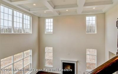 Family Room with Tray Ceilings
