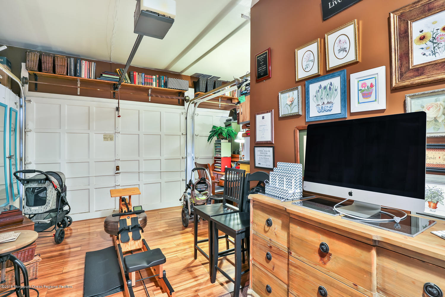 Office space in attached garage