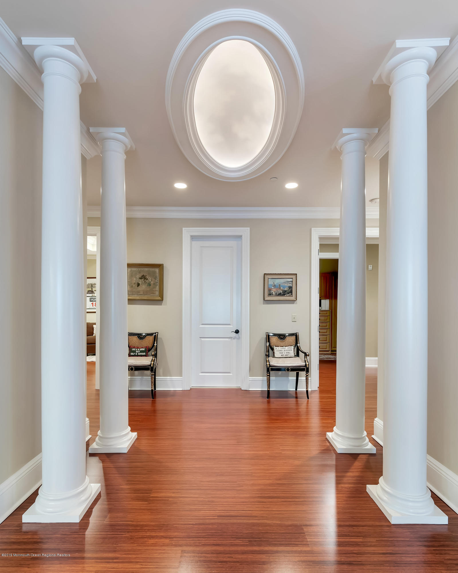 Walkway w Custom Painted Dome at Ceiling