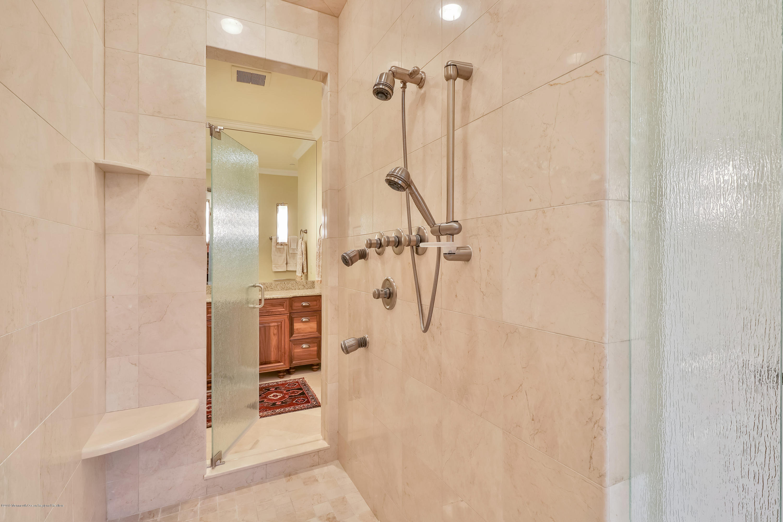 Master Bath Shower Joins His & Her Baths