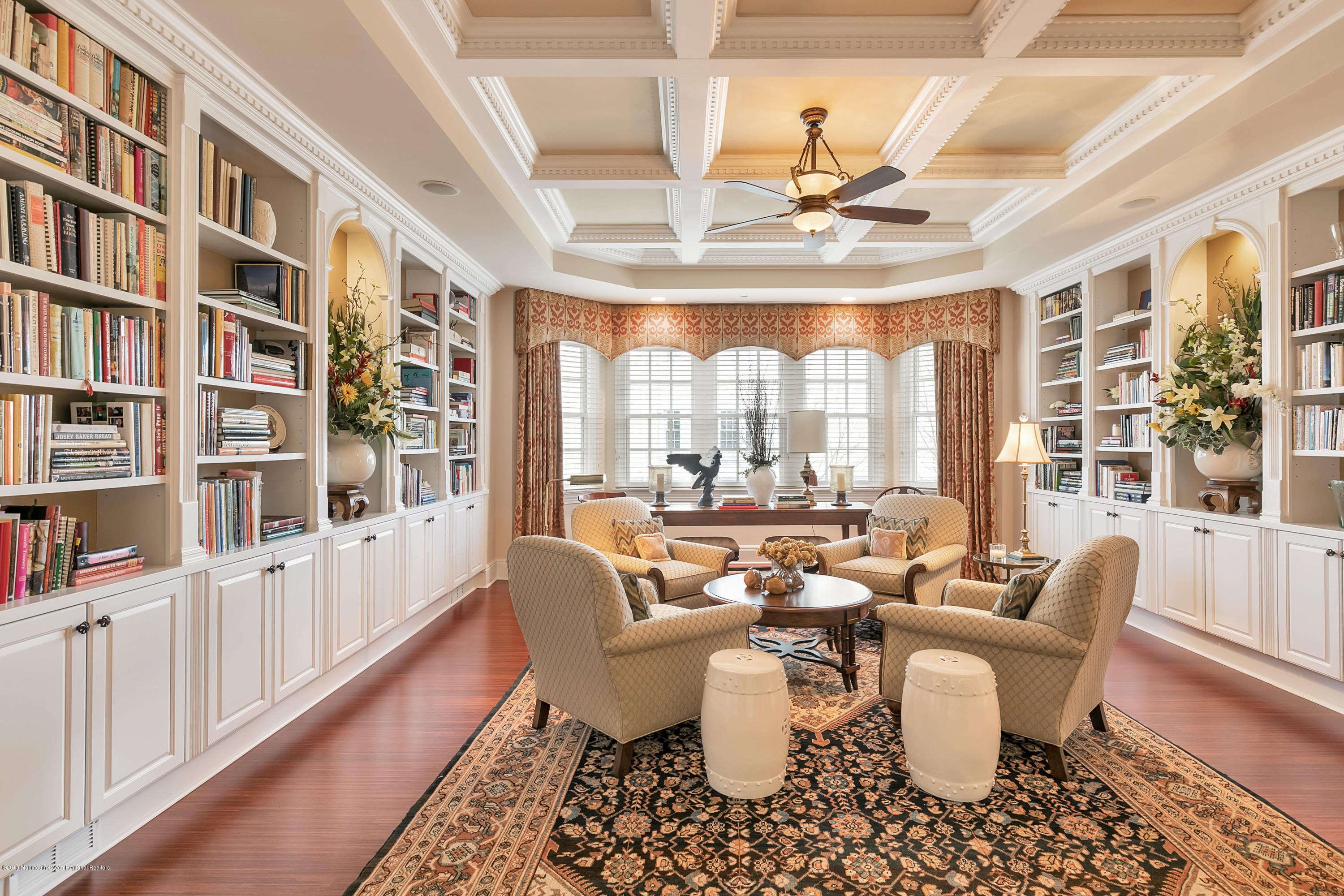 Library w Coffered Ceiling
