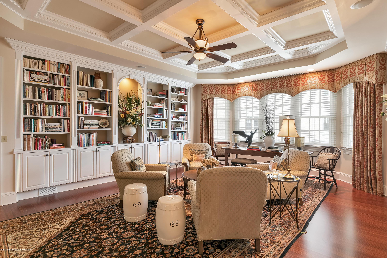 Library w Custom fl to Ceiling Shelves