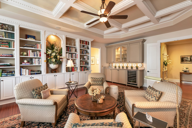 Library w Custom Cabinets & Vitrine