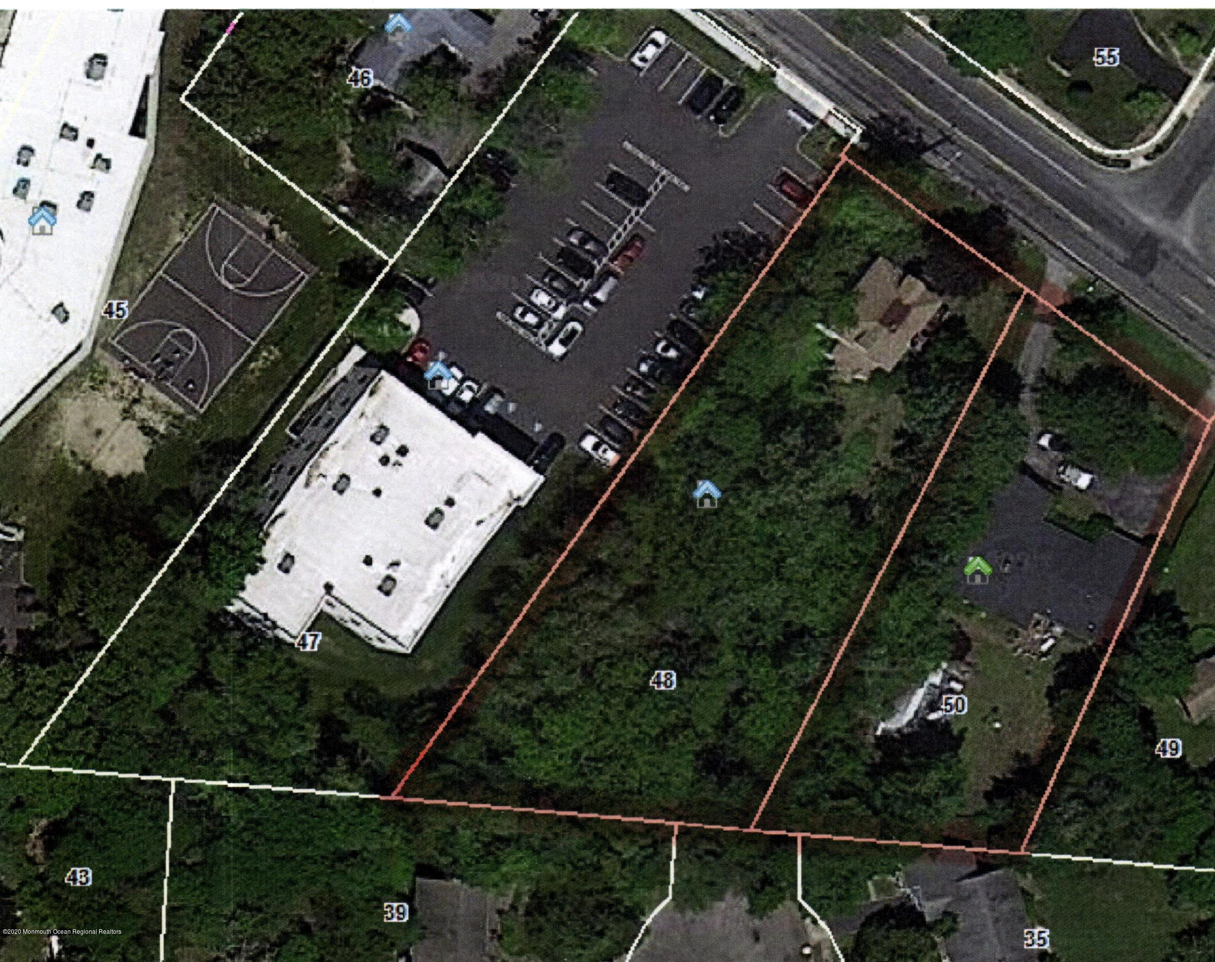 Aerial View of both lots highlighted