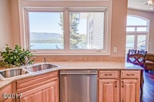 Kitchen w/Window Overlooking Lake