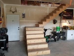 Stairs to Room over Garage