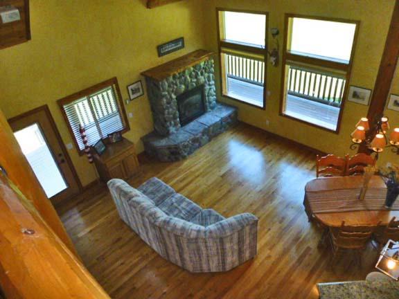 Loft view downstairs