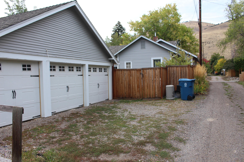 Alley access 3 car garage
