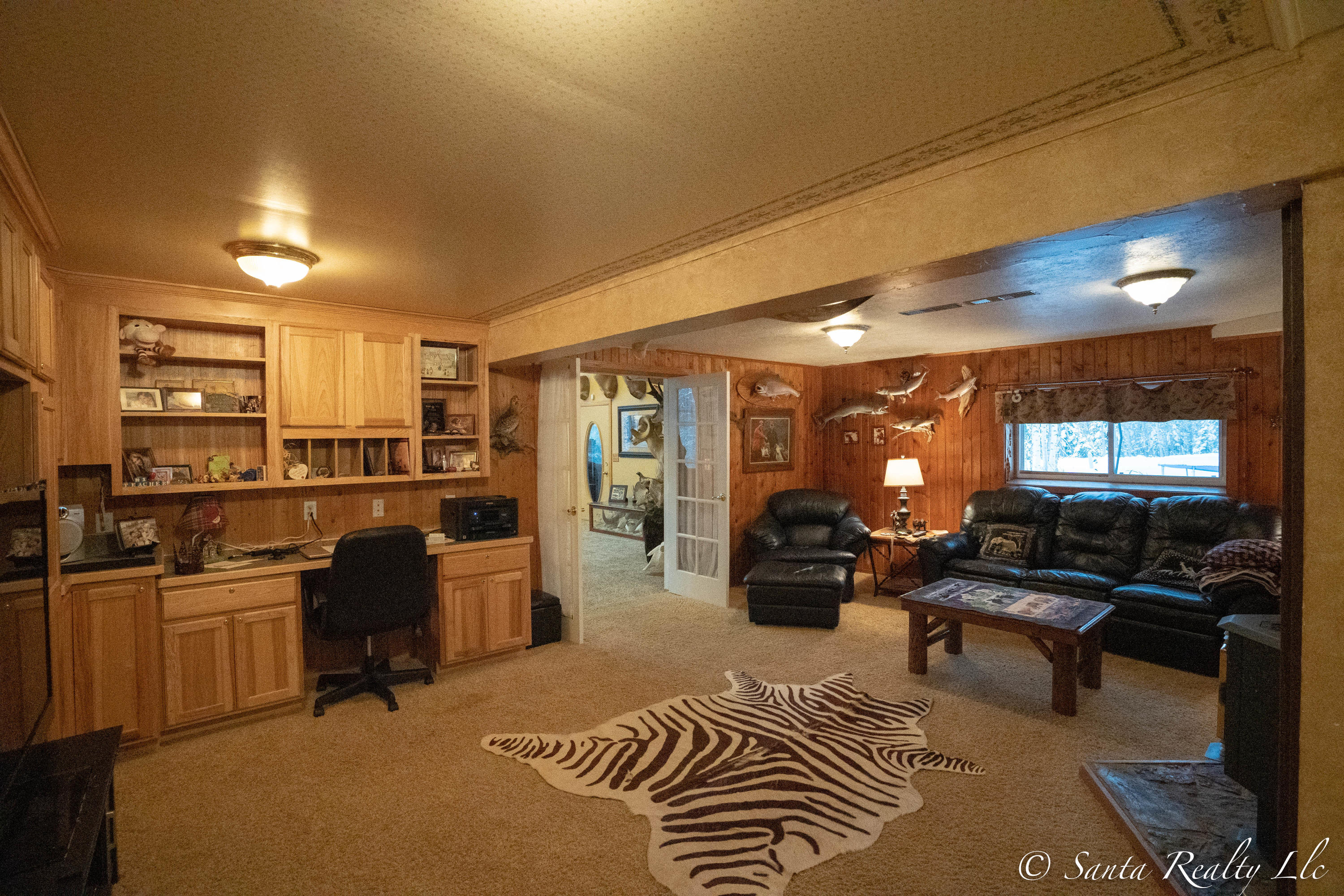 Den with Wet Bar