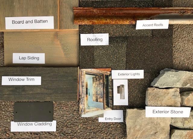 exterior materials board