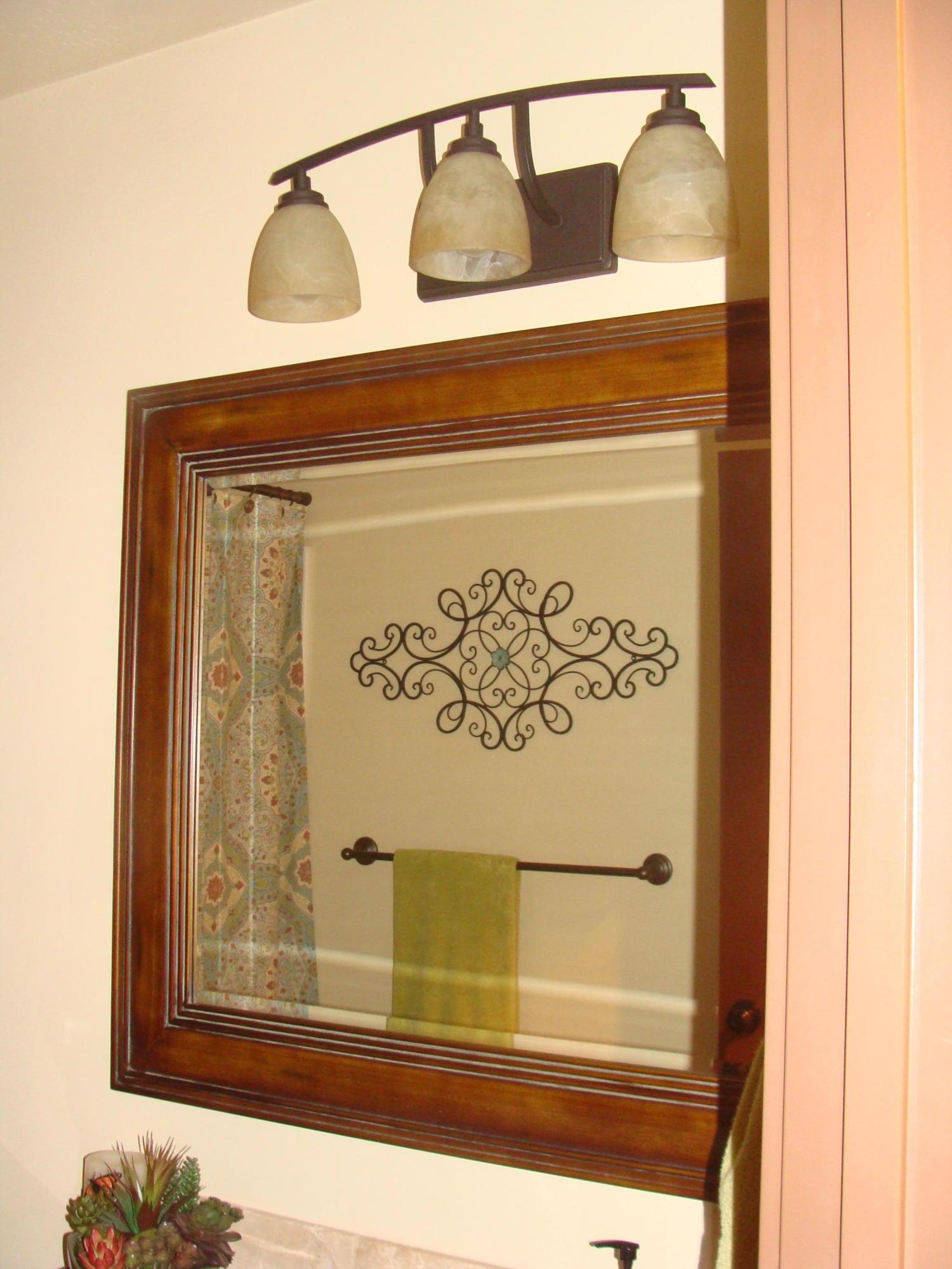 main floor bathroom mirror